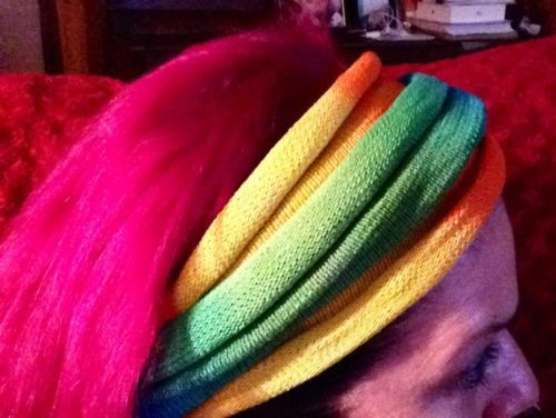 RAINBOW  Tie Dyed Headwrap   Hair & Dreadband Head Wrap Cotton Dreadwrap