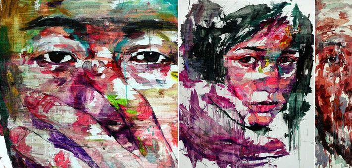 """Έργα τέχνης από τον ζωγράφο KwangHo Shin. Αιχμαλωτίζοντας το """"άτομο"""""""