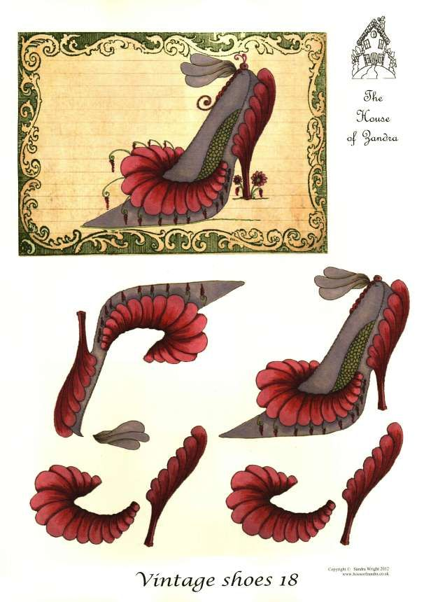 The House of Zandra decoupage - Vintage Shoes 18