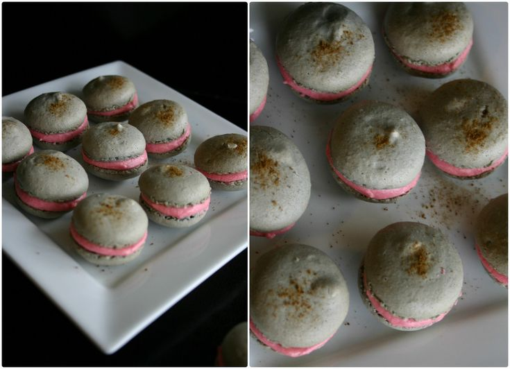 lakrids/hindbær macarons
