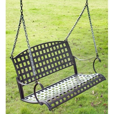 International Caravan Santa Fe Iron Hanging Porch Swing