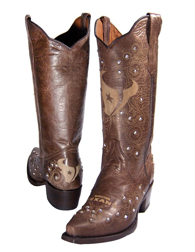 Houston Texans Cowgirl Bling Boots...well, looks like I need to do some shopping!