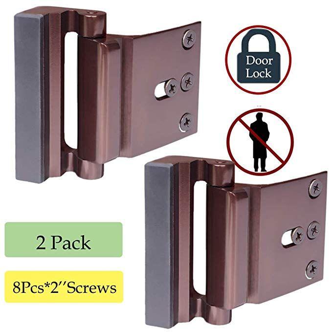 Reinforcement Lock Child Proof Door Lock Home Security Lock For Inward Swinging Door Withstand 800 Lbs Safety Box For Home Child Proofing Doors Security Door