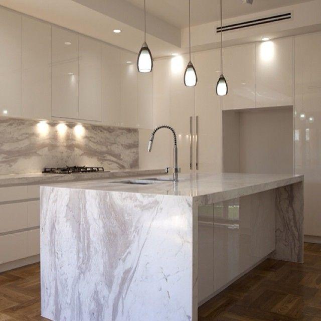 Elba marble kitchen in Beaumaris, Victoria. Stonework by Granite Planet.