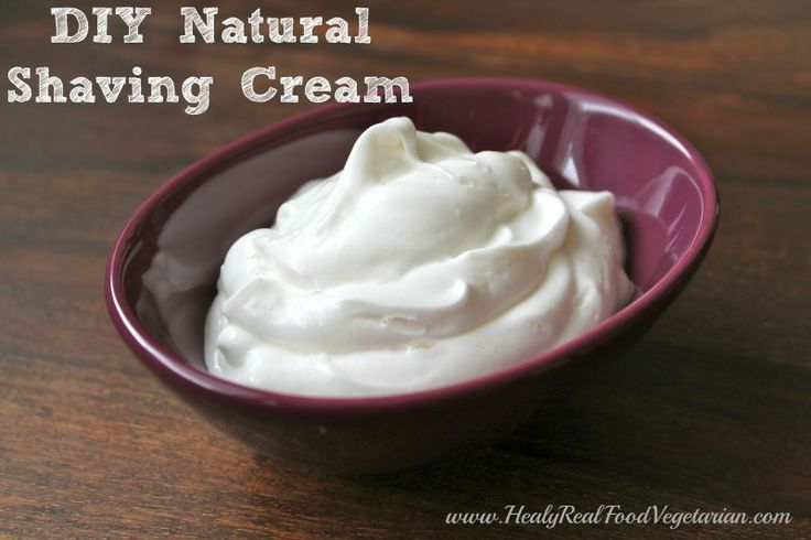 DIY fluffy shaving cream, like the kind out of the can!