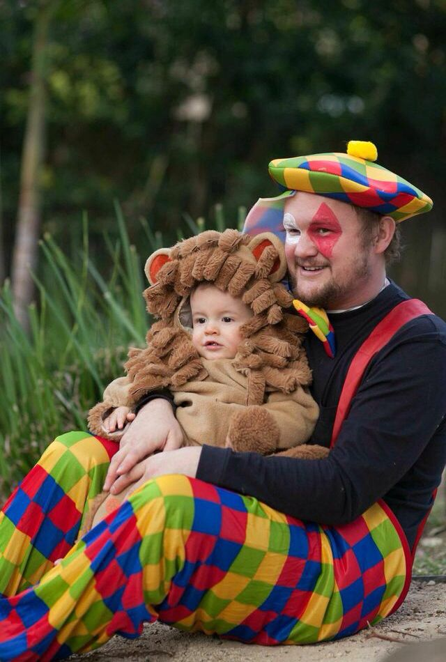 Lion and clown Circus party