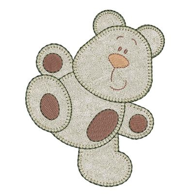 Cute teddy bear appliqué