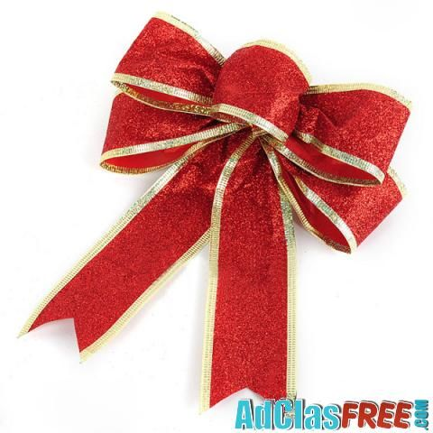 Red Bowknot Christmas Decoration - US Classified Ads   Post Your Ads For Free