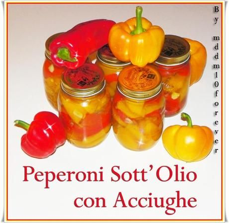 PEPERONI SOTT'OLIO CON ACCIUGHE