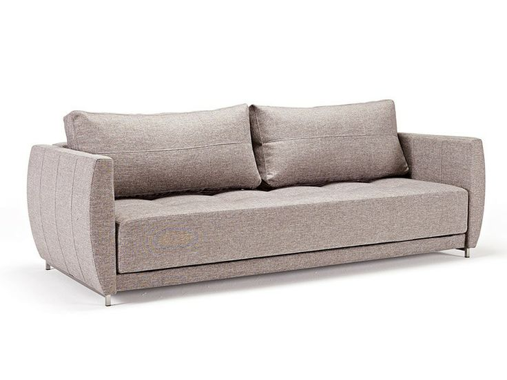 Chaise Lounge Sofa Curvature Deluxe Sofa Bed Mixed Dance Light Grey by Innovation