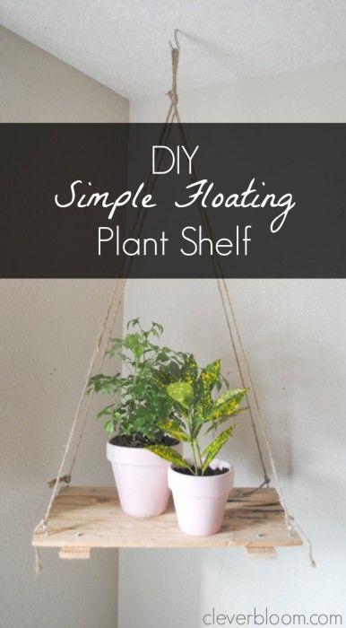 Diy Simple Floating Plant Shelf Plant Shelves Floating