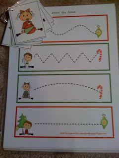 Menta Más Chocolate - RECURSOS y ACTIVIDADES PARA EDUCACIÓN INFANTIL: Actividades de Navidad para trabajar la Grafomotri...