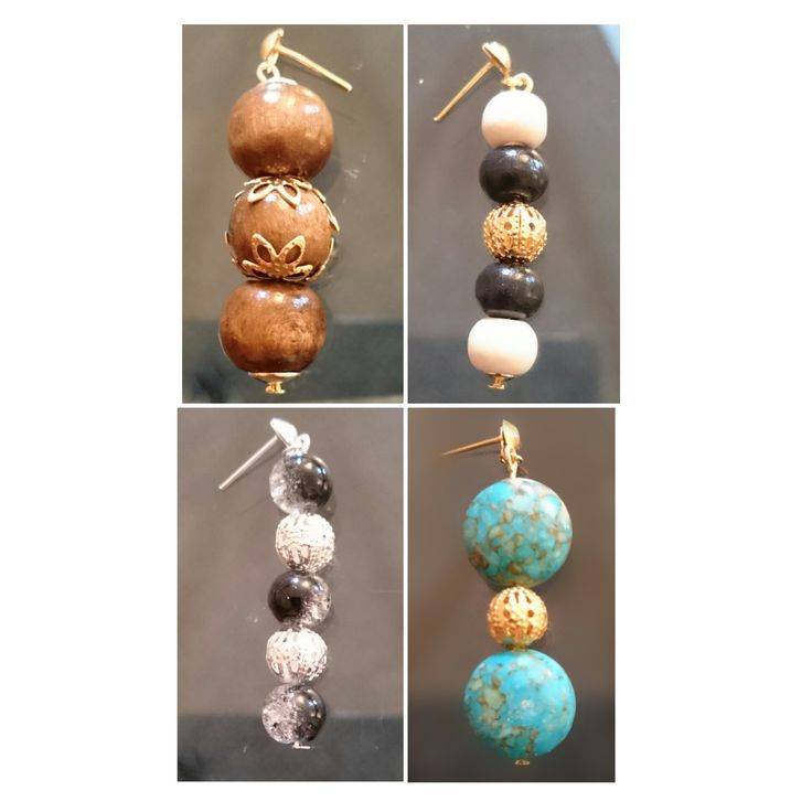 beautiful earrings, made by me! Available to buy now! #earrings #beads #black #brown #wooden #silver #gold #charms #jewels #pendants Contact me by email- loripanrucker@hotmai.co.uk or search me on facebook for more info. Thanks guys