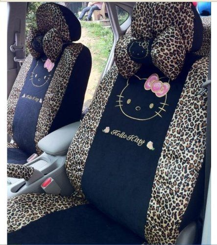 Amazon 18pc New Fashion Hello Kitty Car Steering Wheel Rear Seat Cover CAR