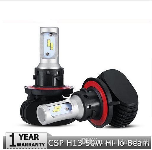 50W/pair CREE Chips CSP LED Car Headlight H13 Hi-Lo Beam 8000LM/pair 6500K Car Auto Led Headlamp H13 Car Bulbs S1 Series - $60.99