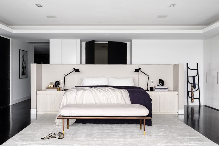 Interiors | alwill  #interiors #monochrome #bedroom #bed