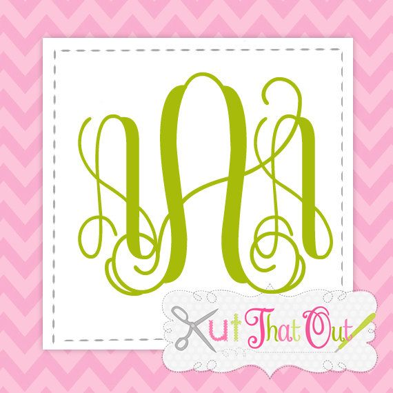 Intertwined Vine Interlocking monogram font for vinyl and heat press SVG Font files by KutThatOut on Etsy
