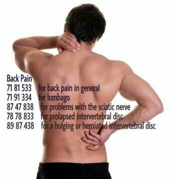 Grabovoi back pain