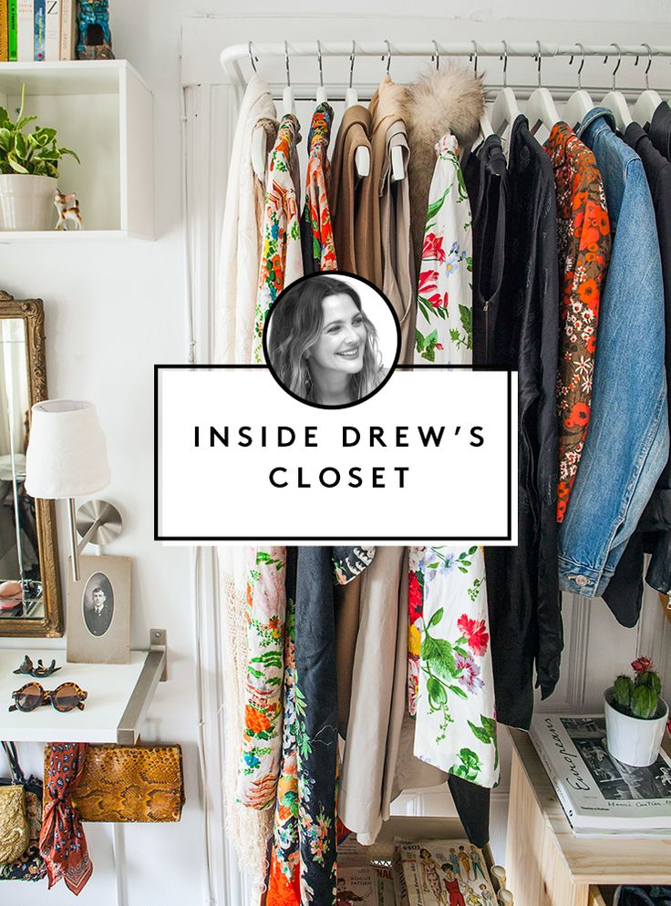Drew Barrymore's 6 steps for cleaning out your closet ...