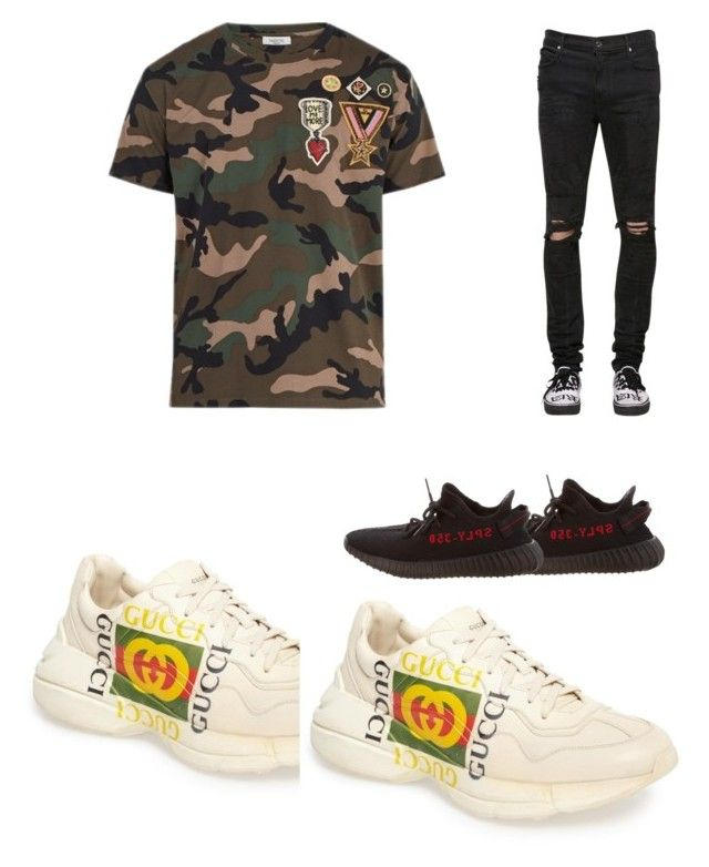 """""""YEEZY"""" by ana-johnston on Polyvore featuring Valentino, RtA, Gucci, Yeezy by Kanye West, men's fashion and menswear"""