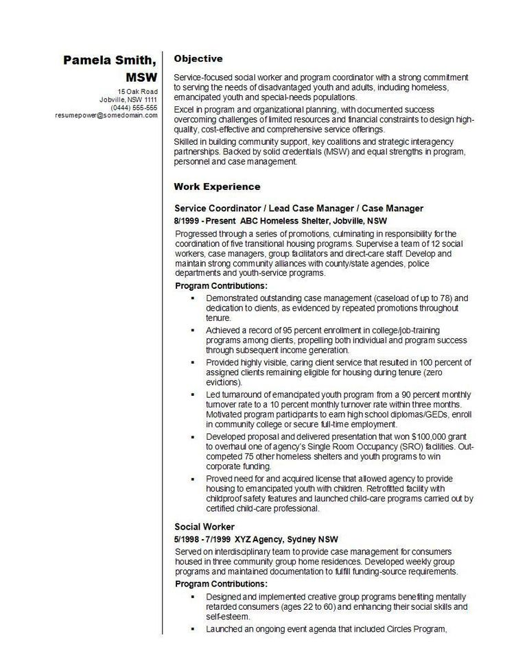Resume for social Work Great 14 Best social Worker Resume