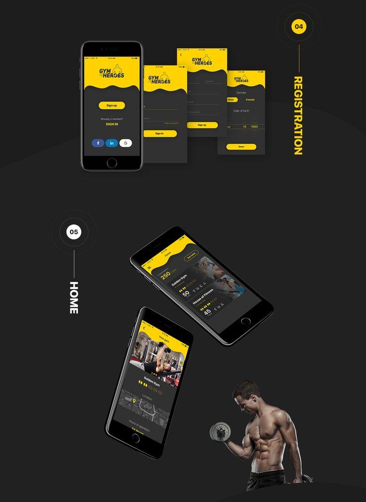 Gym of Heroes - iOS UI Kit on Behance