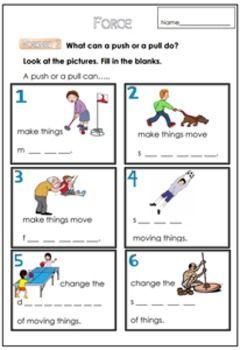 force worksheet for g 1 3 pictures worksheets science worksheets worksheets for kids. Black Bedroom Furniture Sets. Home Design Ideas