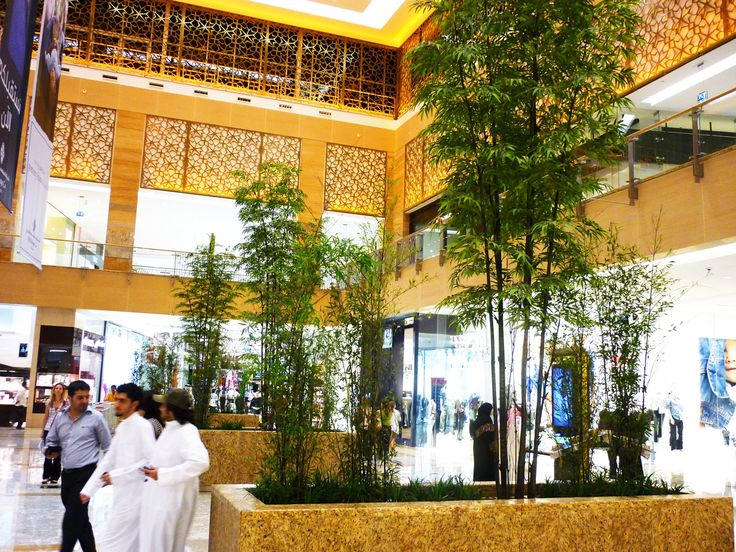 Artificial Black Bamboo @ Mirdiff City Center in Dubai United Arab Emirates