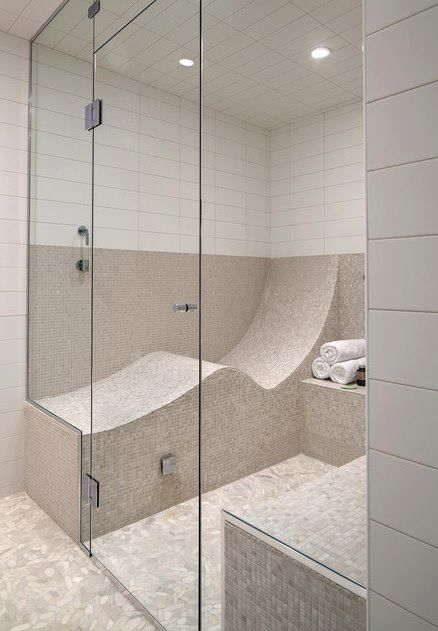 NICE!! I never realized I needed a place to recline in my steam shower, but obviously I do!