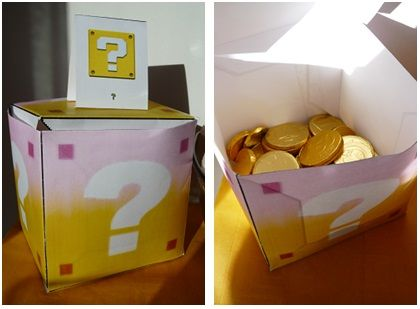 repas anniversaire enfant mario kart : chocolats
