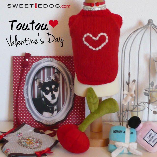Pleins de belles choses à découvrir pour fêter la Saint Valentin à son toutou d'amour préféré ! Vêtement chien, jouets chiens,colliers chiens,harnais chien... www.sweetiedog.com