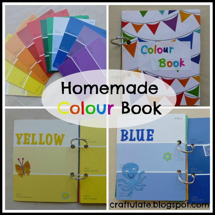 craftulate homemade colour book made from paint swatch cards beginning of the year - Color Book For Toddler