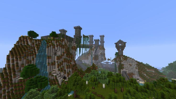 minecraft castles | Minecraft Castle by skrufor