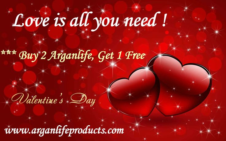 """Valentine's Day Gift for You """"The Exclusive Offer is Buy 2, get 1 for free"""" has began. The campaign period will be continuing till 14.02.2015. You can have 3 products for  2 product price. ***After you buy the product , The only thing you need to do is sending  an email with this campaign code NY26091991P to info@lifeargan.com #gift #valentinesday #buy #sales #giftforideas #thebest #love"""