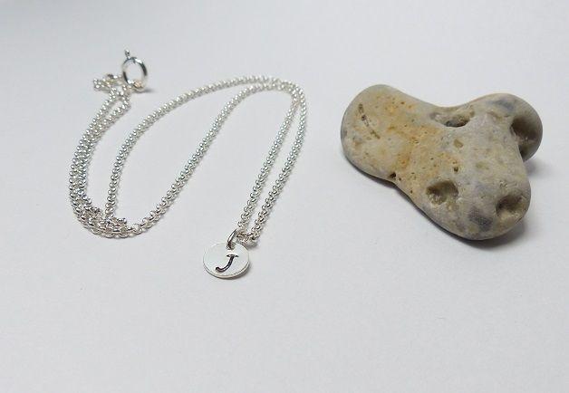 925 Silberkette ♥ Initialien ♥ handgestempelt von Andressâ auf DaWanda.com