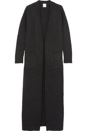 Madeleine Thompson Woman Ribbed Wool And Cashmere-blend Midi Dress Charcoal Size M Madeleine Thompson VuPvx