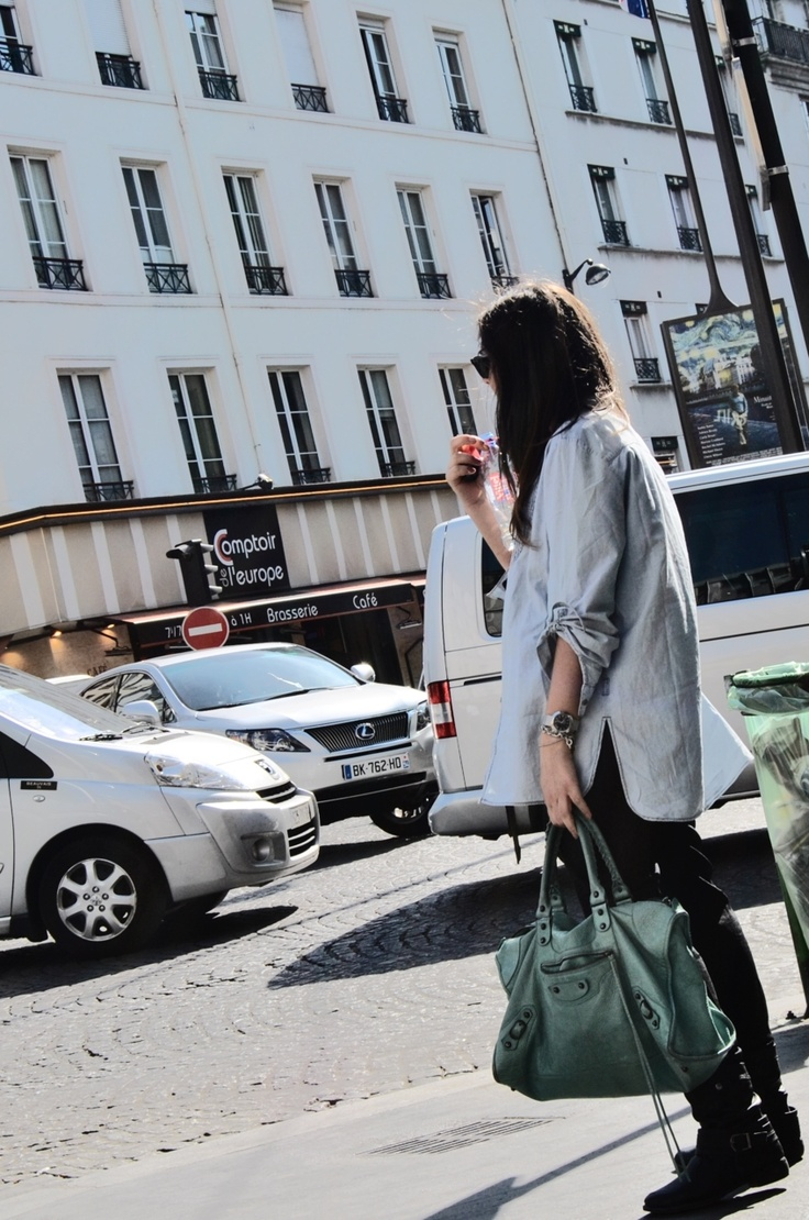 Me in Paris with my Mint Balenciaga #mformirror Maria Aversano