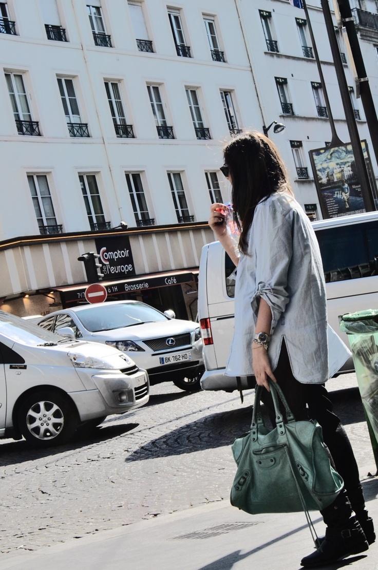 Me in Paris with my Mint Balenciaga #mformirror Maria Aversano