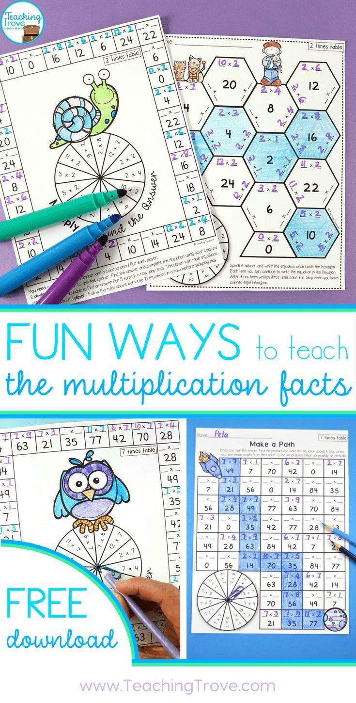 79 best Multiplication images on Pinterest | Elementary schools ...