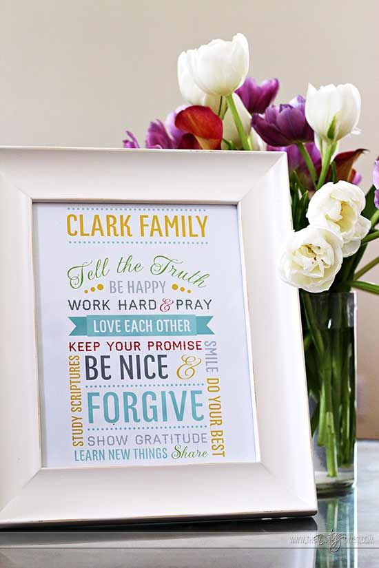 Family Mission Statement - DIY your own mission statement