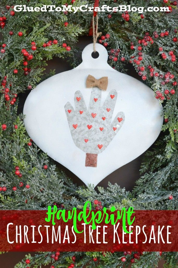 Handprint Christmas Tree Keepsake
