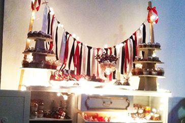 red is love #candy table #cupcake #red #black #night
