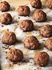 roasted italian meatballs