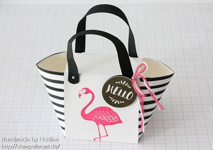 Stampin' Up! Anleitung Tutorial Handtasche Handbag mit dem Stanz und Falzbrett…