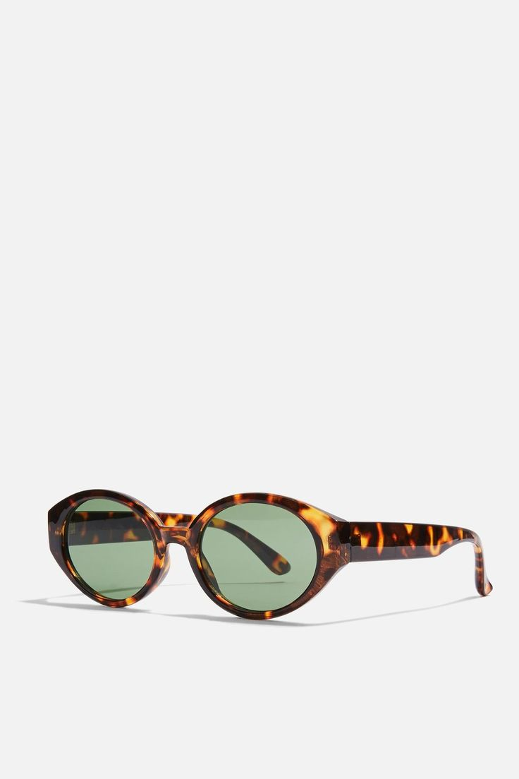 Petal Oval Tortoise Shell Sunglasses - Bags & Accessories- Topshop USA