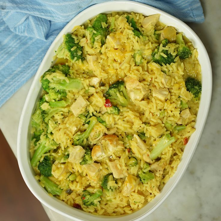 Add Zatarain's Yellow Rice to  chicken for an easy-to-make, one-pot meal!