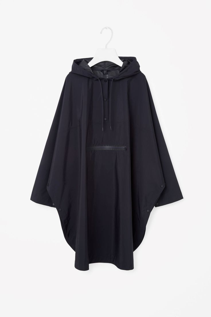 COS image 4 of Oversized poncho jacket in Navy