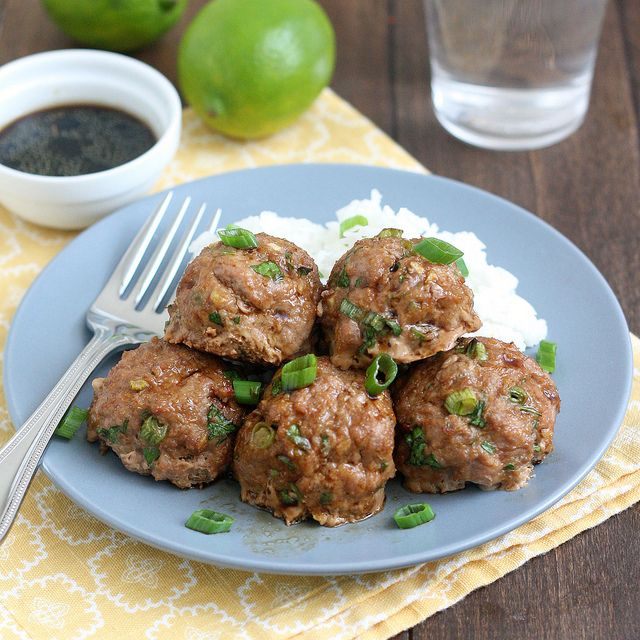 Asian Turkey Meatballs With Lime Sesame Dipping Sauce by ...