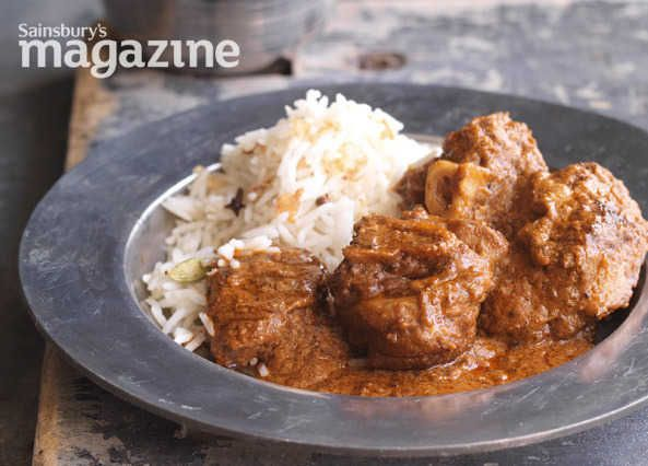 Try Anjum Anand's spice-packed lamb rogan josh by Sainsbury's magazine