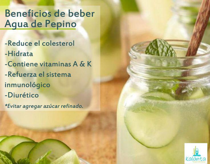 Beneficios del Agua de Pepino.
